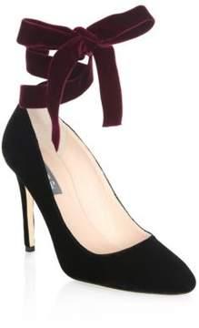 Sarah Jessica Parker Ania Tie-Up Velvet Heels
