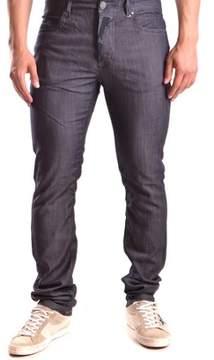 Galliano Men's Blue Cotton Jeans.