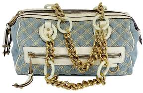 Marc Jacobs Light Blue & Cream Quilted Denim Bag - BLUE - STYLE