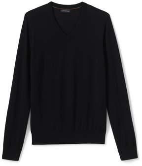 Lands' End Lands'end Men's Classic Merino V-neck Sweater