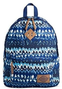 Dickies Women's Canvas Backpack Handbag with Ikat Design and Zip Closure - Gray