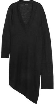Ann Demeulemeester Asymmetric Mohair-blend Sweater - Black