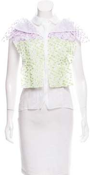 DELPOZO Fil-coupé Sleeveless Top w/ Tags