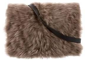 Brunello Cucinelli Fur-Trimmed Leather Bag