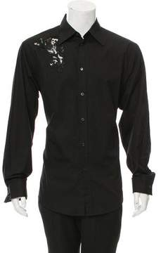 Gianni Versace Embroidered Button-Up Shirt