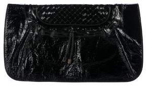 Salvatore Ferragamo Patent Leather Flap Clutch
