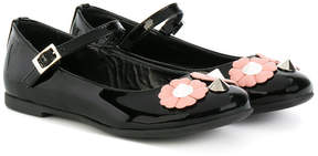 Fendi flower & studs embellished ballerinas