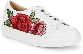 Saks Fifth Avenue Women's Floral Leather Sneakers