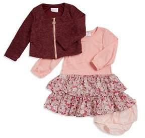 Iris & Ivy Baby Girl's Three-Piece Sweater, Dress and Bloomers Set