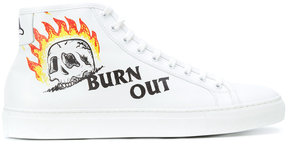 Joshua Sanders Burn Out printed hi-top sneakers