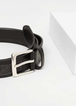 Mango Outlet Leather mixed belt