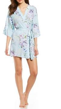 Flora Nikrooz Aviva Floral-Print Knit Wrap Robe