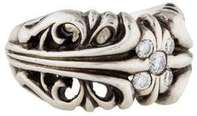 Chrome Hearts Diamond Cutout Ring