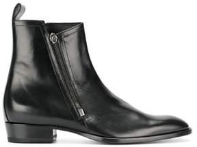 Saint Laurent Men's Black Leather Ankle Boots.