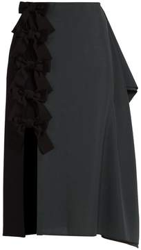Fendi Extended-seam wool-blend pencil skirt