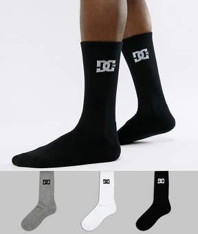 DC 3Pk Logo Socks In Multi