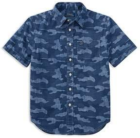 Polo Ralph Lauren Boys' Short-Sleeve Camouflage Shirt - Big Kid
