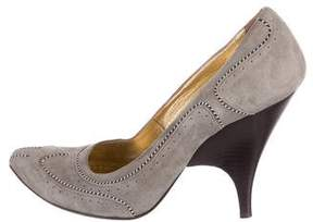 Just Cavalli Suede Pointed-Toe Pumps