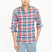 J.Crew Factory Slim madras shirt