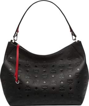 MCM Klara Hobo In Monogram Leather