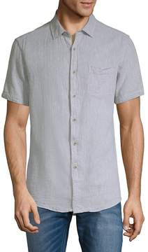Report Collection Men's Dobby Textured Short-Sleeve Button-Down Shirt