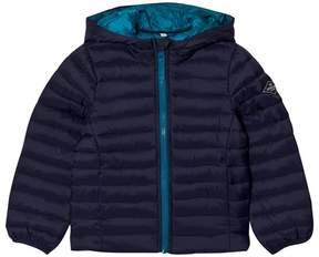 Joules Navy Hooded Packaway Puffer Jacket