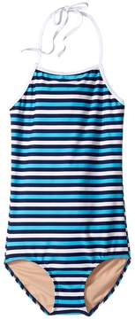 Toobydoo Multi Blue Stripe One-Piece (Infant/Toddler/Little Kids/Big Kids)
