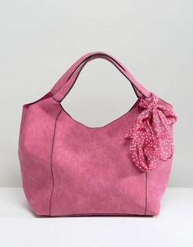 Oasis Slouch Bag With Detachable Scarf