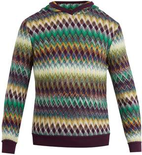 Missoni Zig zag-print slouchy hooded sweater