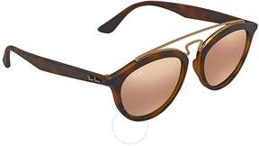 Ray-Ban Gatsby II Copper Mirror Round Ladies Sunglasses RB4257 60922Y