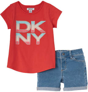 DKNY Girls' 2Pc Short Set