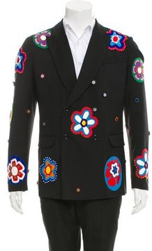 Moschino Virgin Wool Embellished Blazer w/ Tags