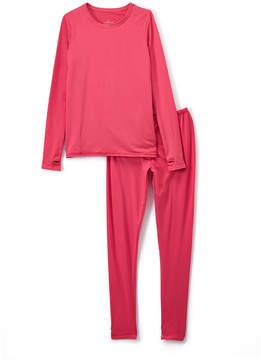 Cuddl Duds Beetroot Pink Comfortech Base Layer Top & Leggings - Girls