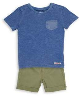 Hudson Baby Boy's Two-Piece Cotton Tee and Shorts Set
