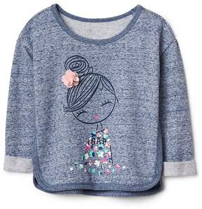 Gap Embellished graphic pullover sweater