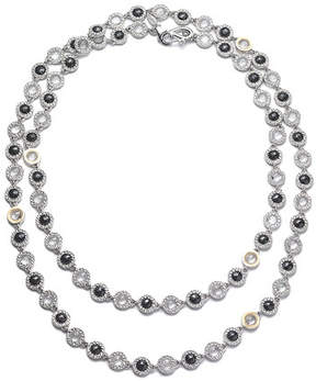 Coomi Opera Sterling Silver Necklace with Black Spinel & Diamonds, 36