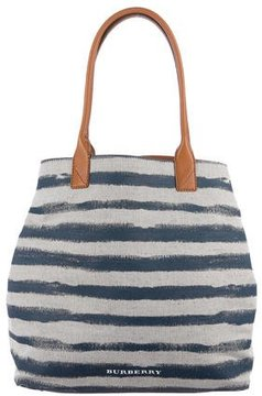 Burberry Medium Lauriston Tote w/ Tags - BLUE - STYLE