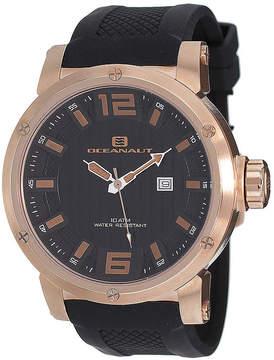 Oceanaut Mens Spider Black Silicon Strap Watch