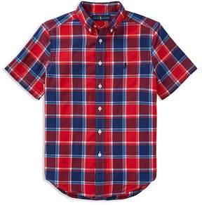 Polo Ralph Lauren Boys' Short-Sleeve Madras Shirt - Big Kid