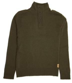 Converse Olive Green Shawl Neck Sweater