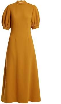 Emilia Wickstead Victoria cut-out back wool midi dress