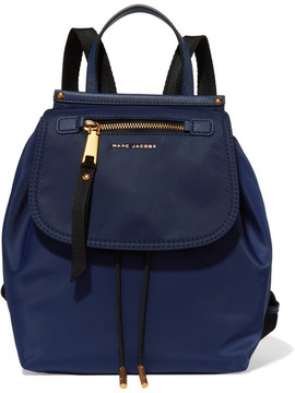 Marc Jacobs Trooper Textured Leather-trimmed Shell Backpack - Midnight blue