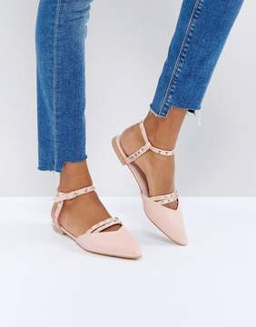 Glamorous Cut Out Point Flat Shoes