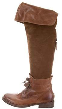 Brunello Cucinelli Leather & Suede Boots
