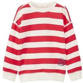 MANGO Bicolor striped sweatshirt