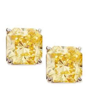FANTASIA Canary Cubic Zirconia Stud Earrings