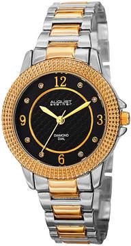 August Steiner Womens Two Tone Strap Watch-As-8154ttg
