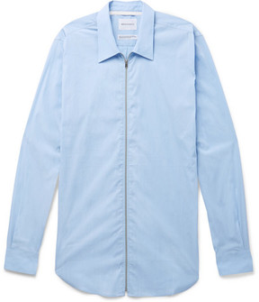 Norse Projects Osvald Slim-Fit Stretch Cotton-Blend Zip-Up Shirt