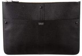 Giorgio Armani Leather Zip Pouch