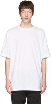 Helmut Lang White Uni Sleeve T-Shirt
